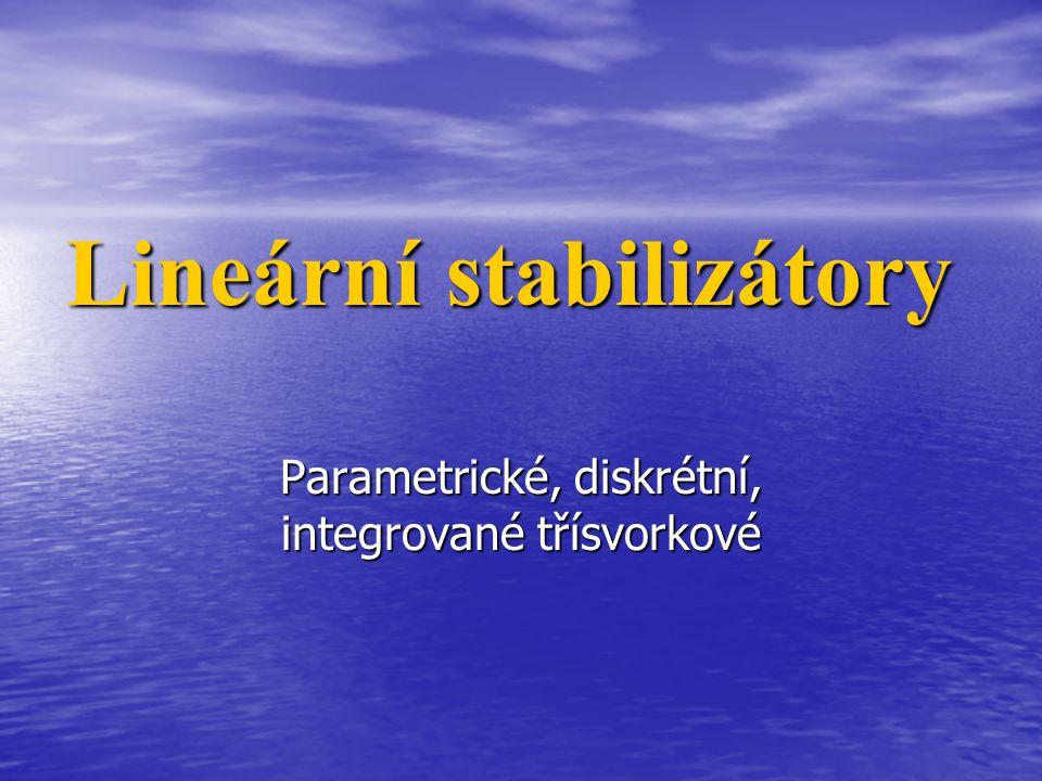 Lineární stabilizátory