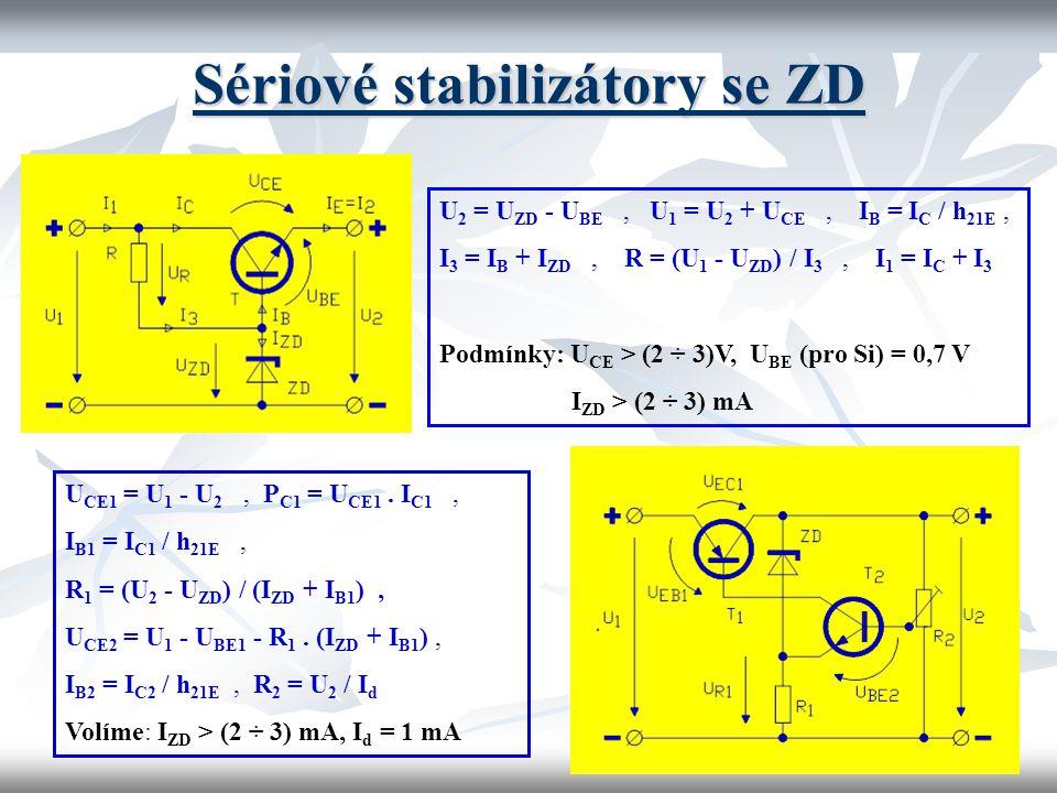 Sériové stabilizátory se ZD