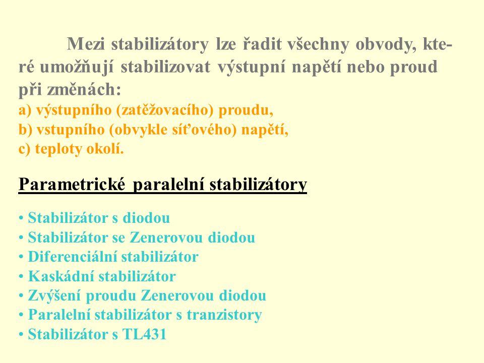 Parametrické paralelní stabilizátory
