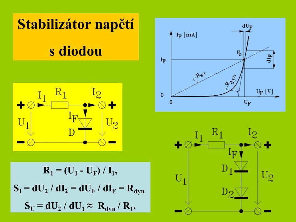 Stabilizátor napětí s diodou