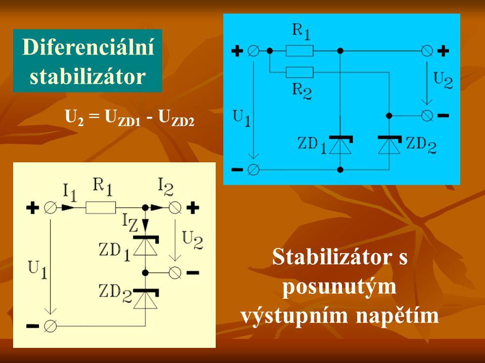 Diferenciální stabilizátor Stabilizátor s posunutým výstupním napětím