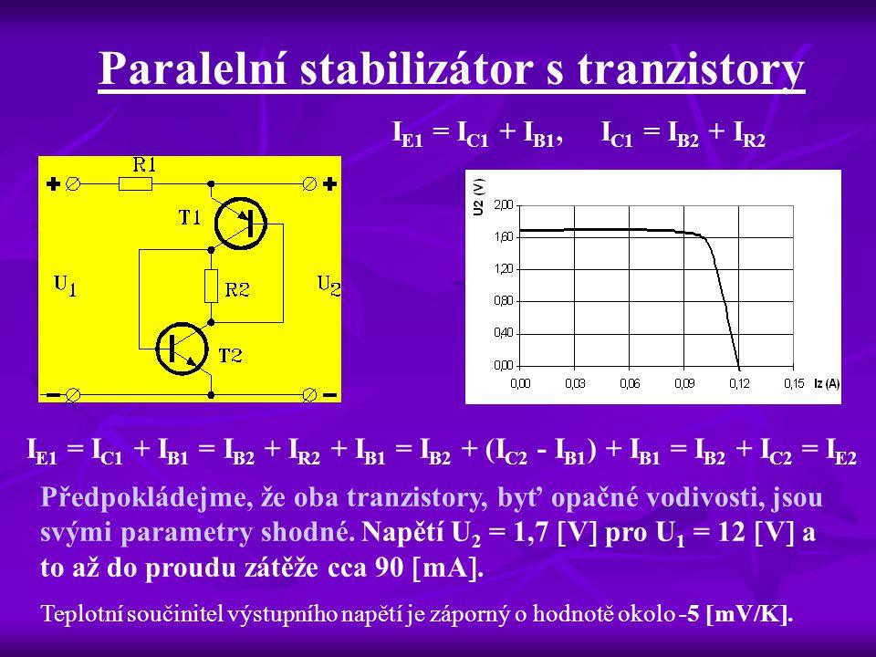 Paralelní stabilizátor s tranzistory