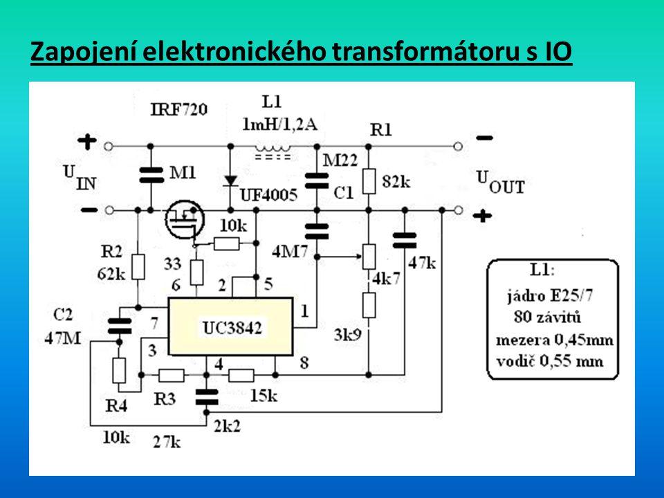 Zapojení elektronického transformátoru s IO