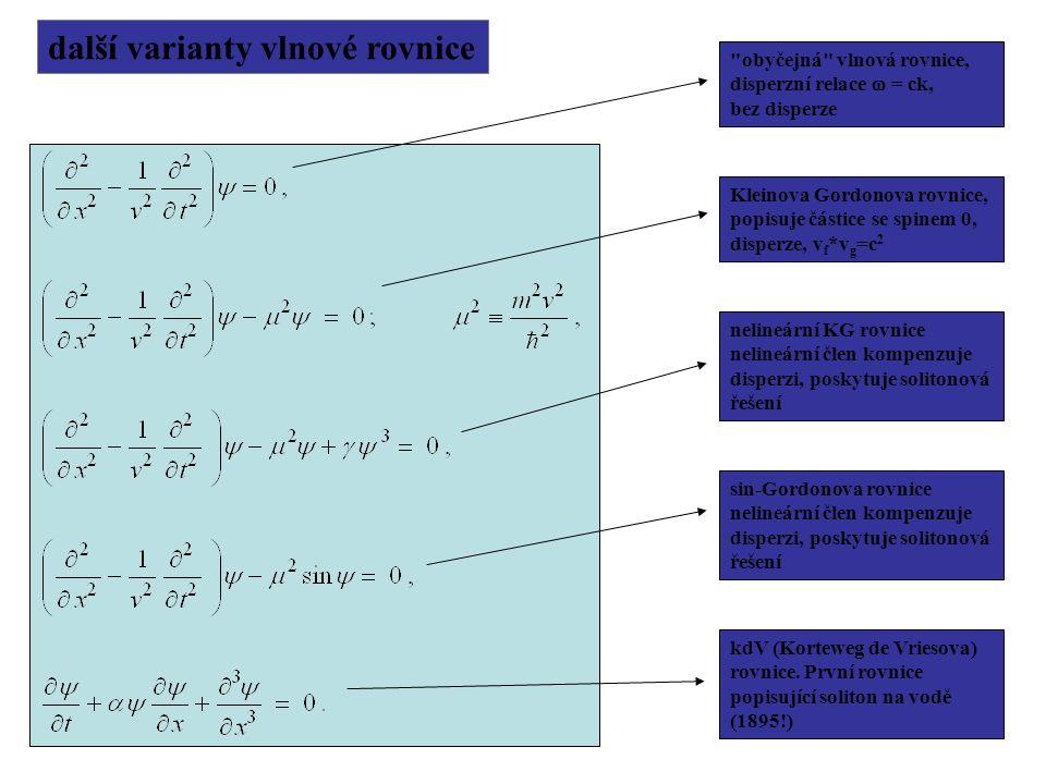 další varianty vlnové rovnice