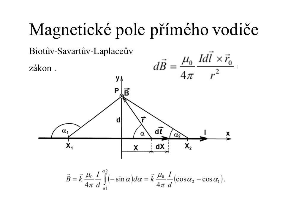 Magnetické pole přímého vodiče