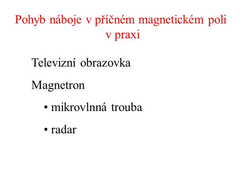 Pohyb náboje v příčném magnetickém poli v praxi