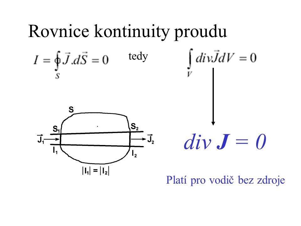 Rovnice kontinuity proudu