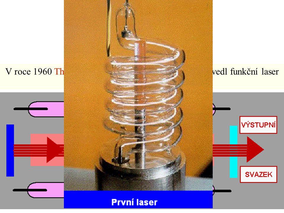V roce 1960 Theodore H. Maiman v USA poprvé předvedl funkční laser