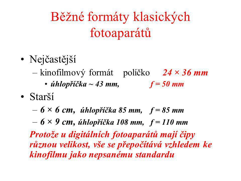 Běžné formáty klasických fotoaparátů