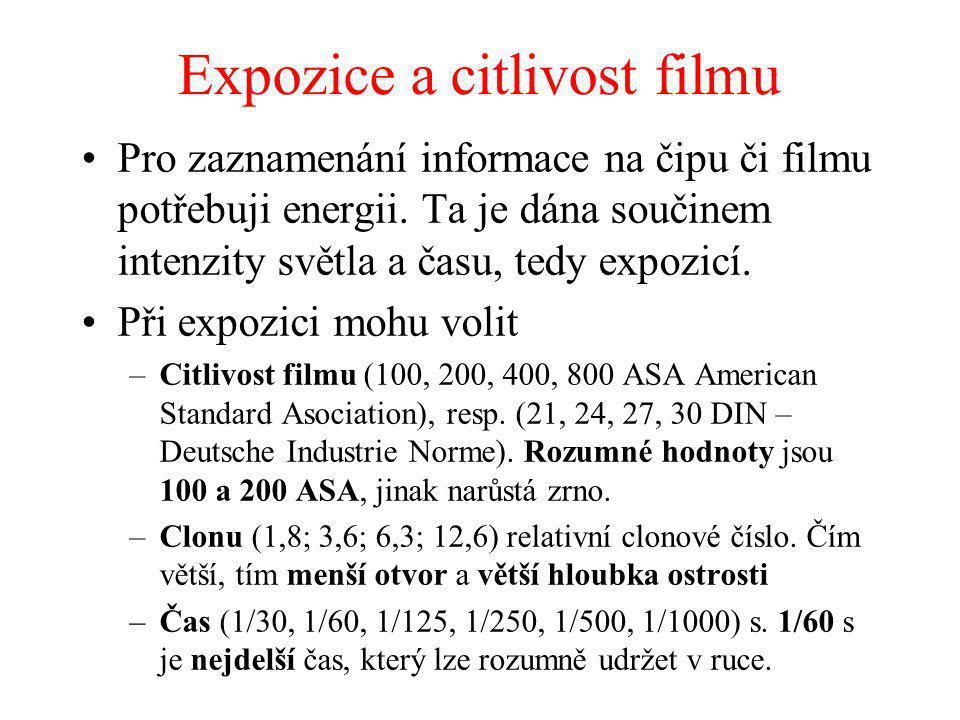Expozice a citlivost filmu