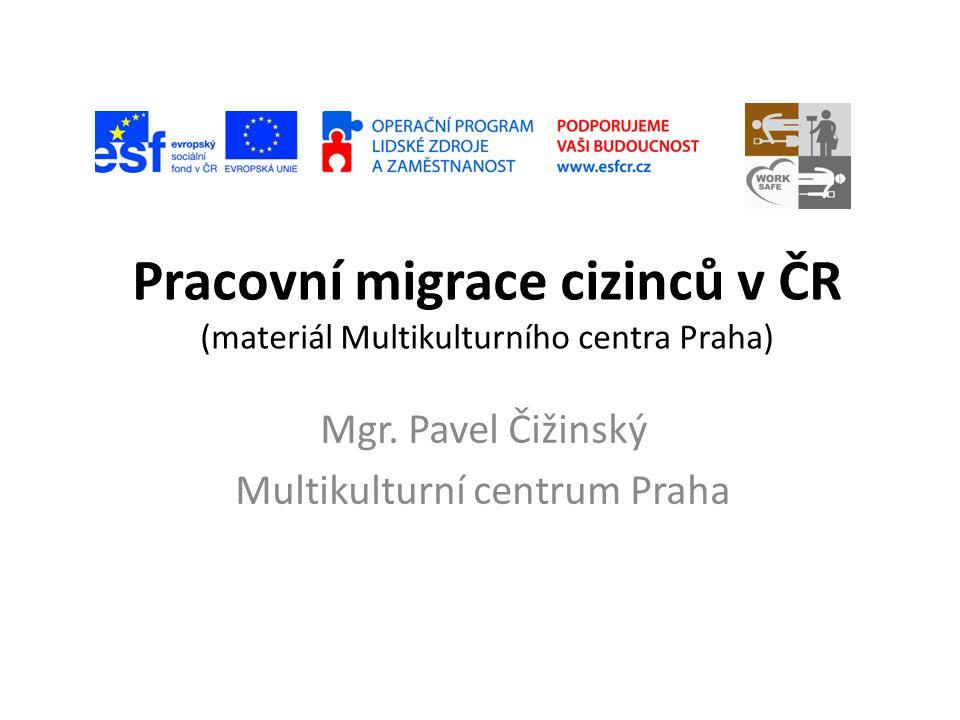 Pracovní migrace cizinců v ČR (materiál Multikulturního centra Praha)