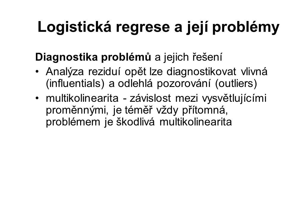 Logistická regrese a její problémy
