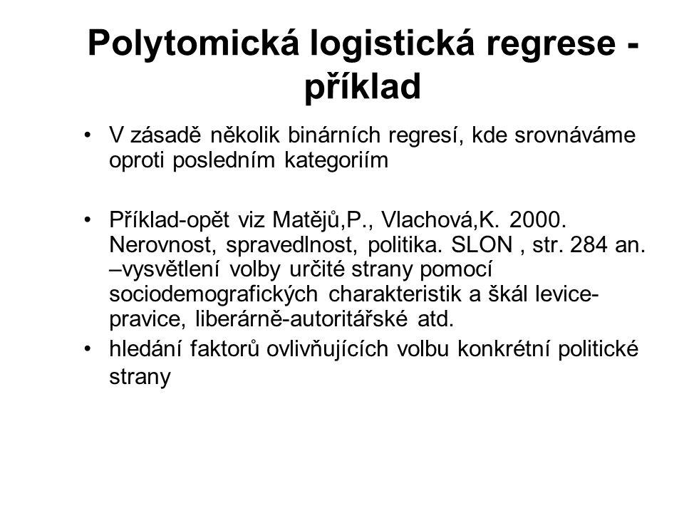 Polytomická logistická regrese - příklad