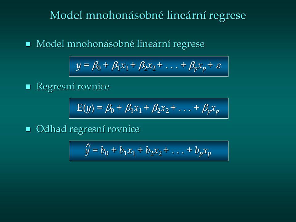 Model mnohonásobné lineární regrese