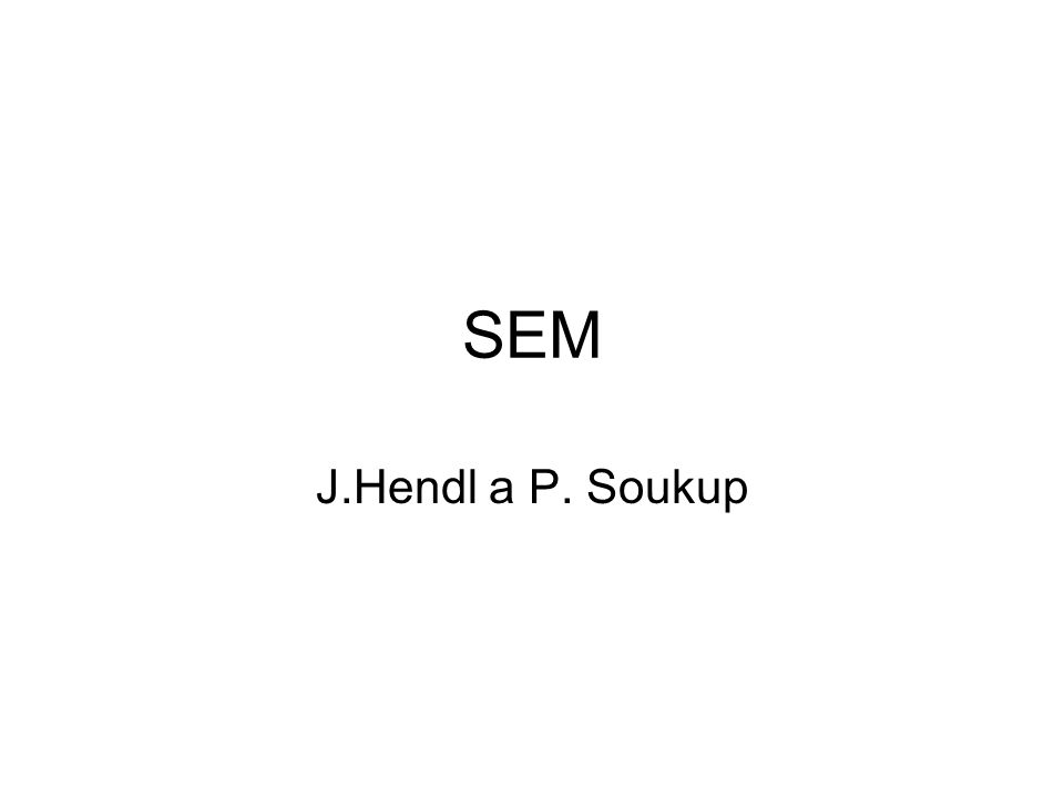 SEM J.Hendl a P. Soukup