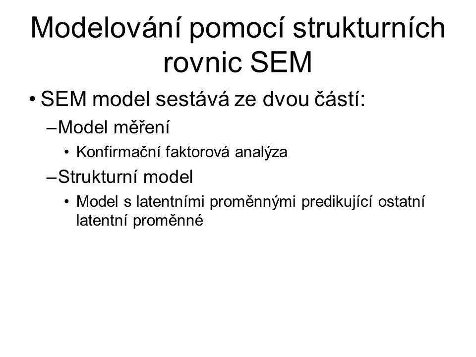 Modelování pomocí strukturních rovnic SEM