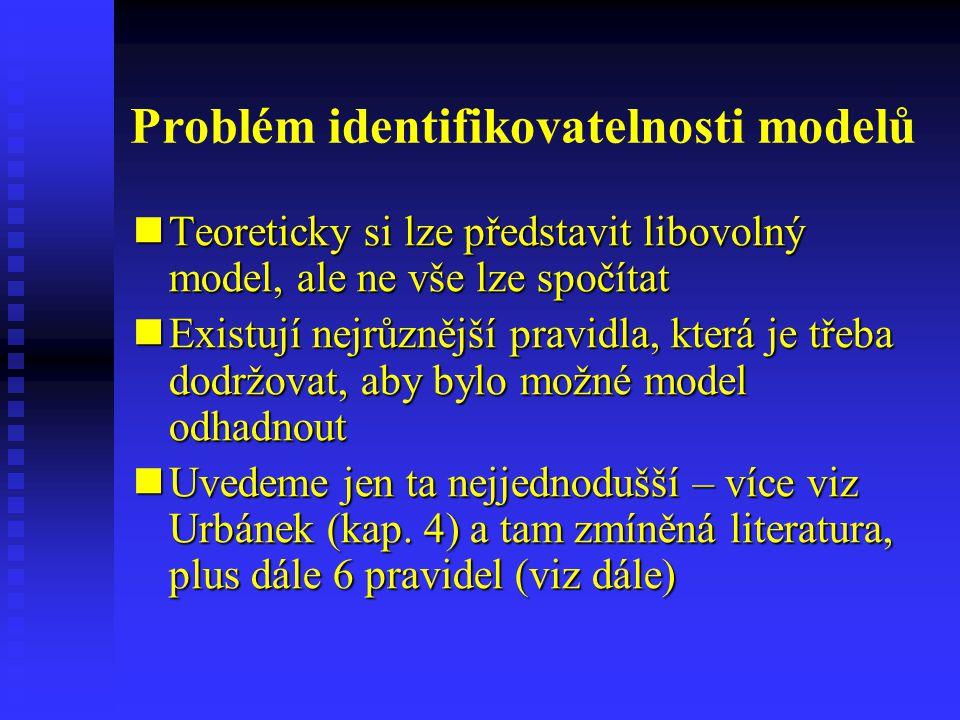 Problém identifikovatelnosti modelů