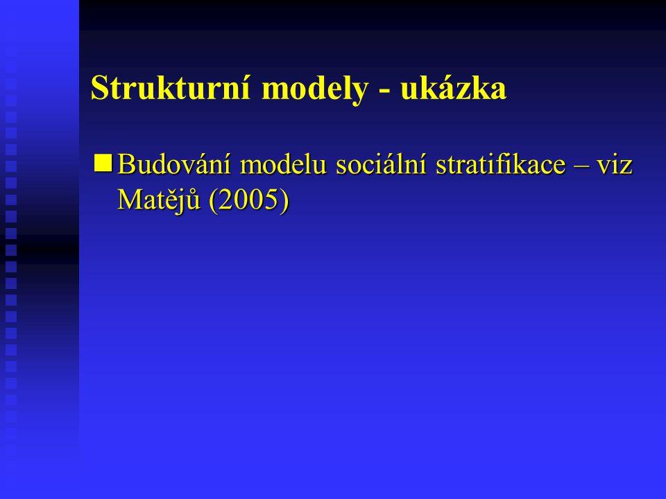 Strukturní modely - ukázka