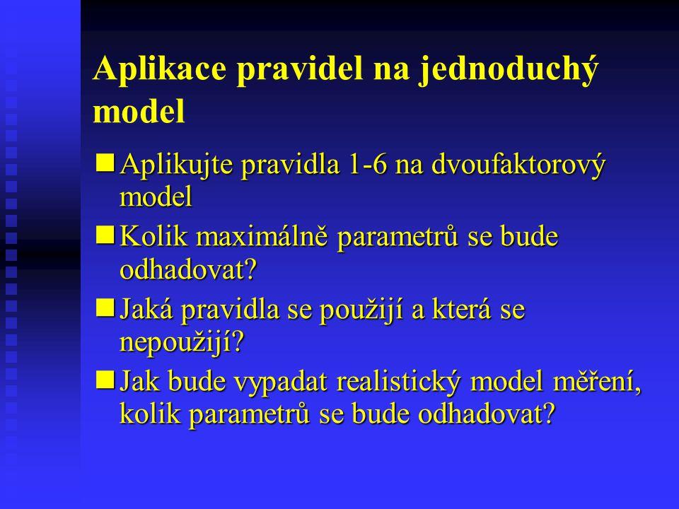 Aplikace pravidel na jednoduchý model