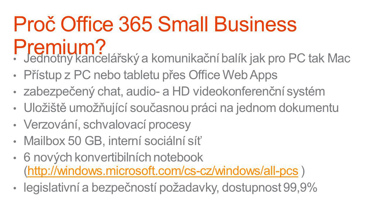 Proč Office 365 Small Business Premium