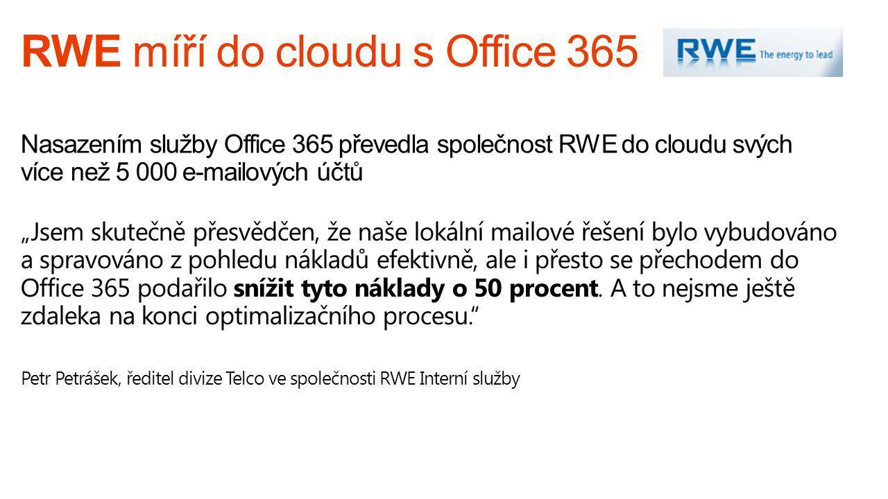RWE míří do cloudu s Office 365