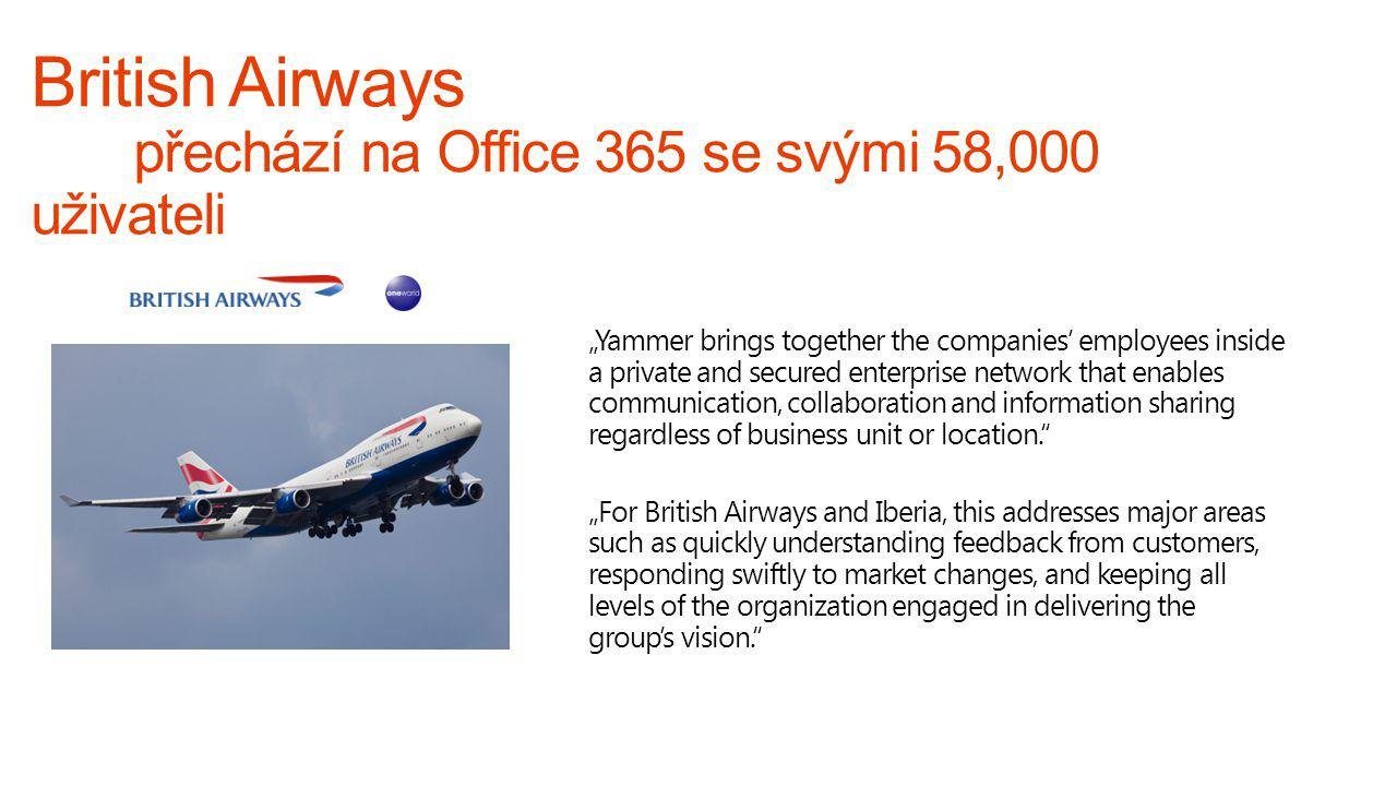 British Airways přechází na Office 365 se svými 58,000 uživateli