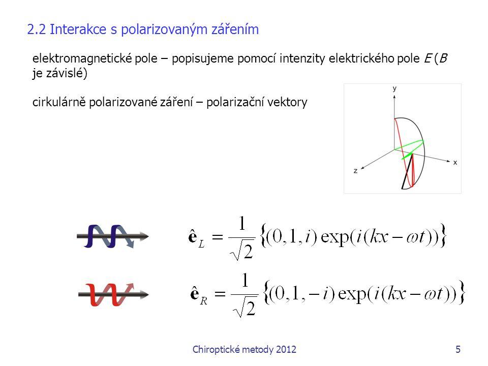 2.2 Interakce s polarizovaným zářením