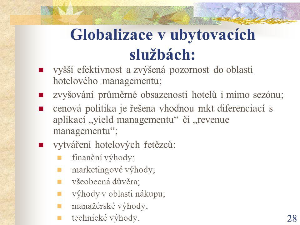Globalizace v ubytovacích službách: