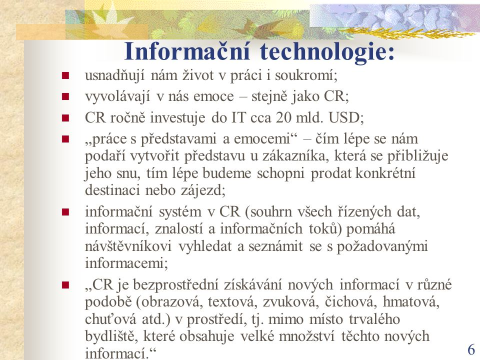 Informační technologie: