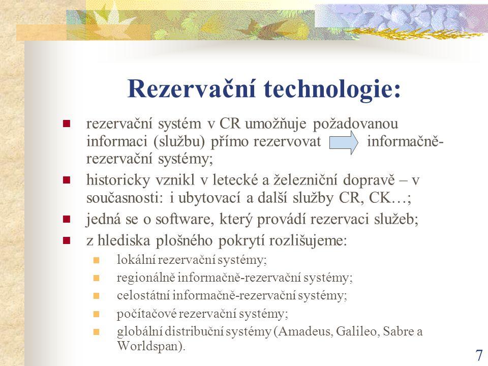 Rezervační technologie: