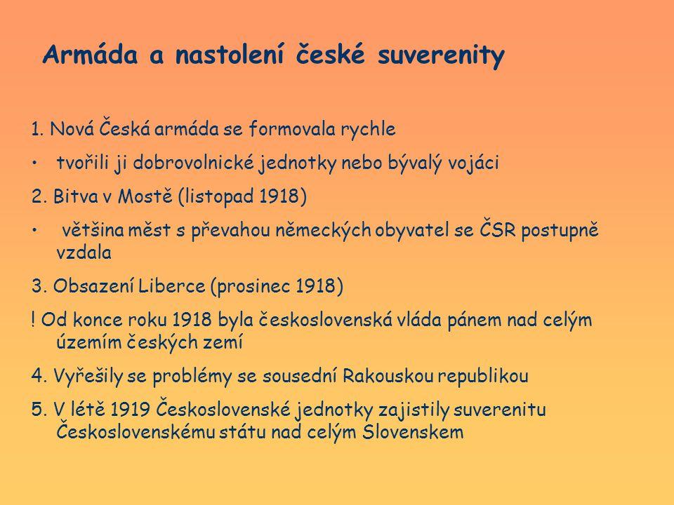Armáda a nastolení české suverenity