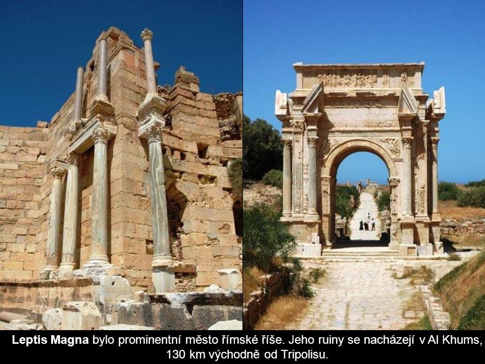Leptis Magna bylo prominentní město římské říše