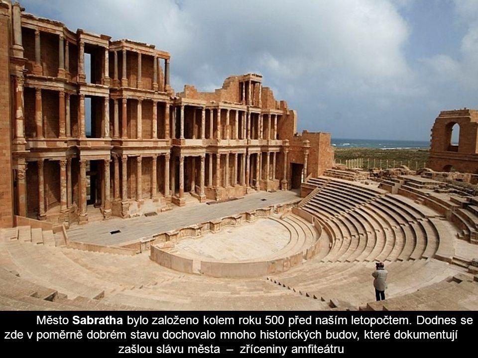 Město Sabratha bylo založeno kolem roku 500 před naším letopočtem