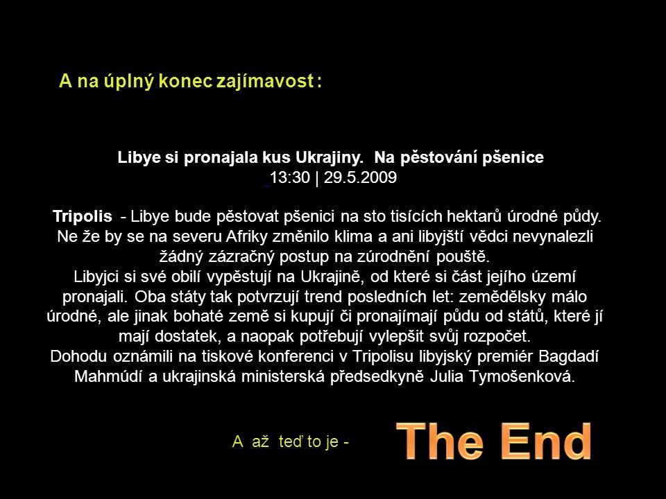 The End A na úplný konec zajímavost :
