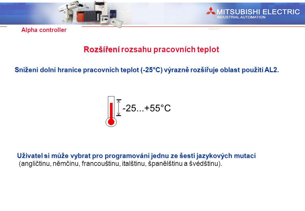Rozšíření rozsahu pracovních teplot