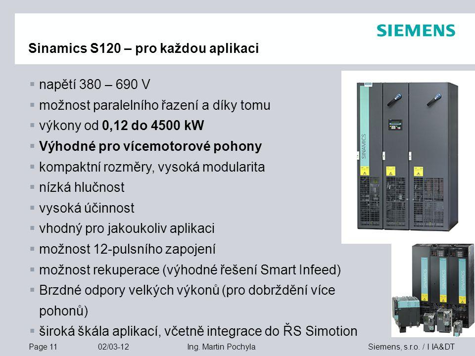 Sinamics S120 – pro každou aplikaci