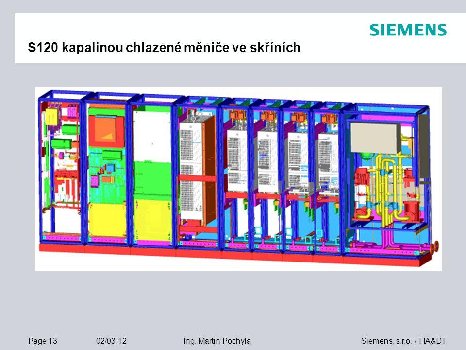 S120 kapalinou chlazené měniče ve skříních