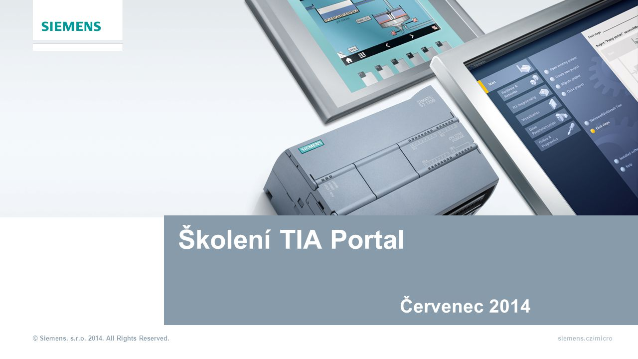 Školení TIA Portal Červenec 2014