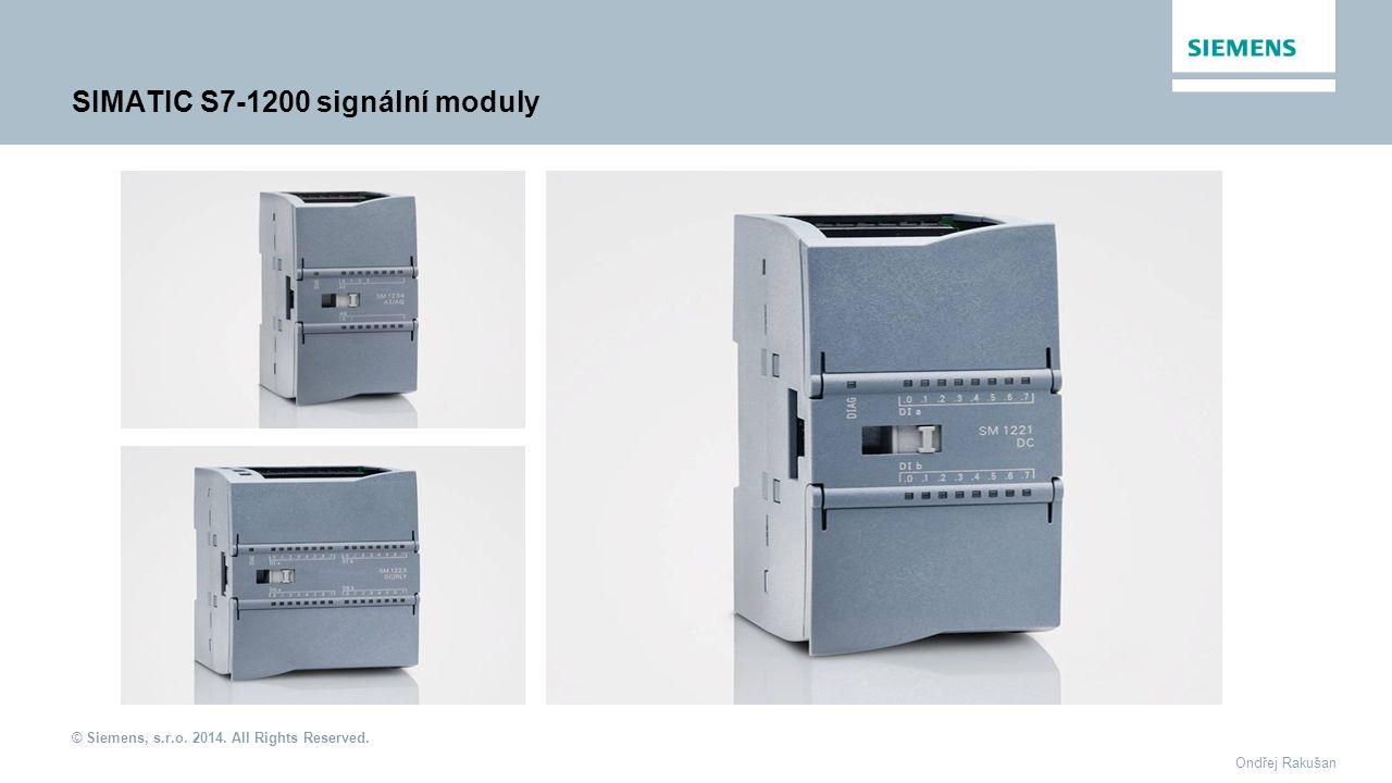SIMATIC S7-1200 signální moduly