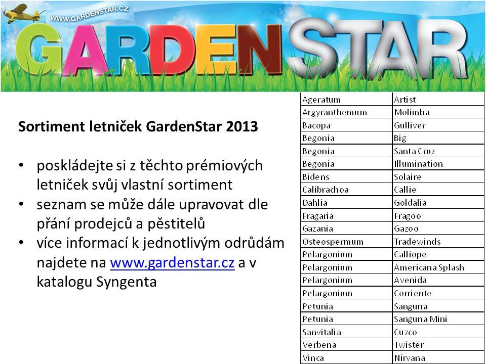 Sortiment letniček GardenStar 2013