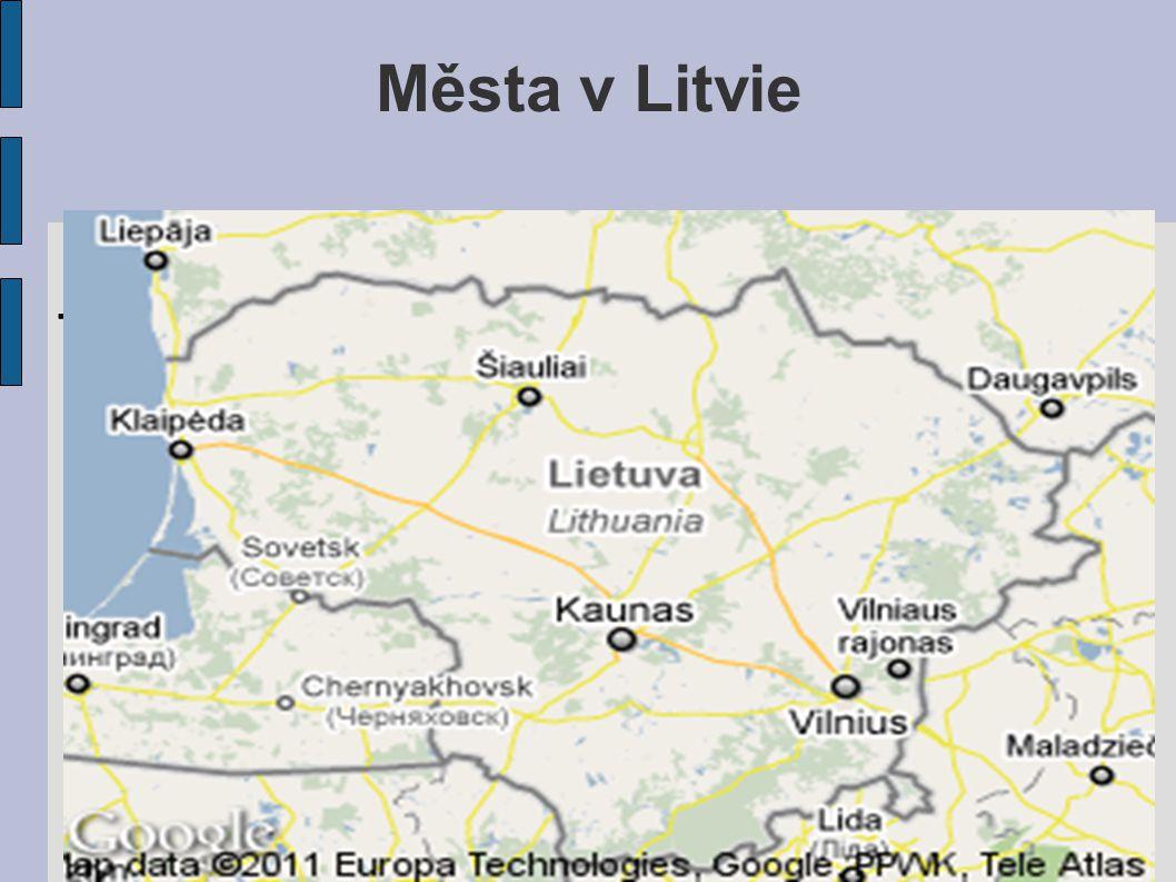 Města v Litvie . l . .