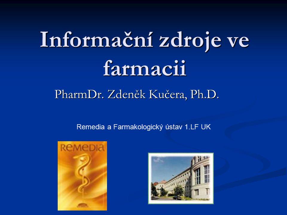 Informační zdroje ve farmacii