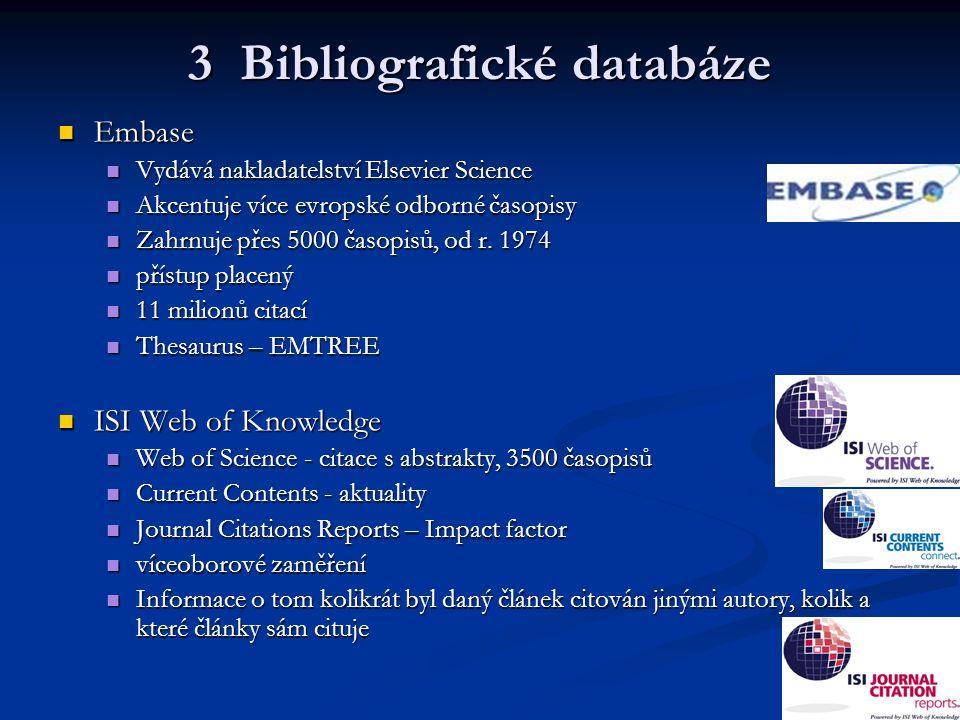 3 Bibliografické databáze