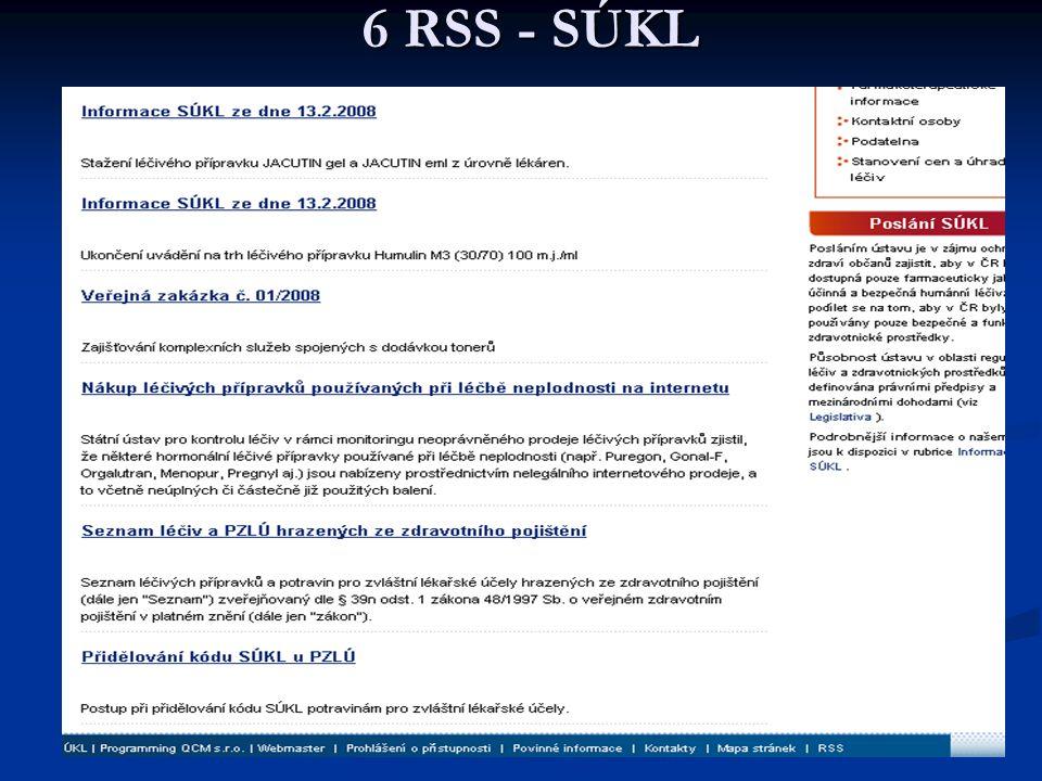 6 RSS - SÚKL