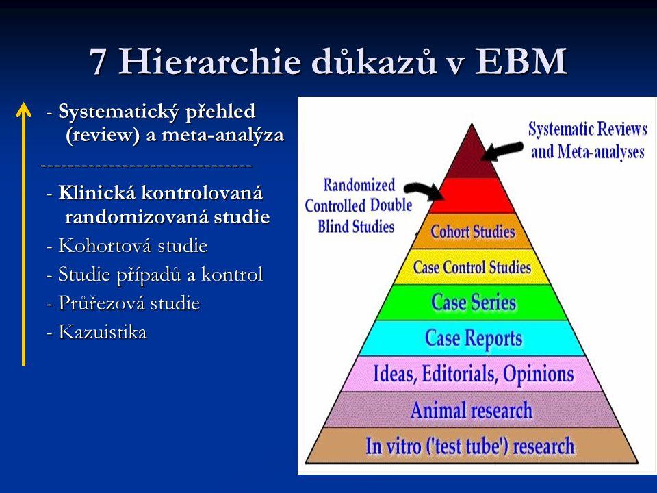 7 Hierarchie důkazů v EBM