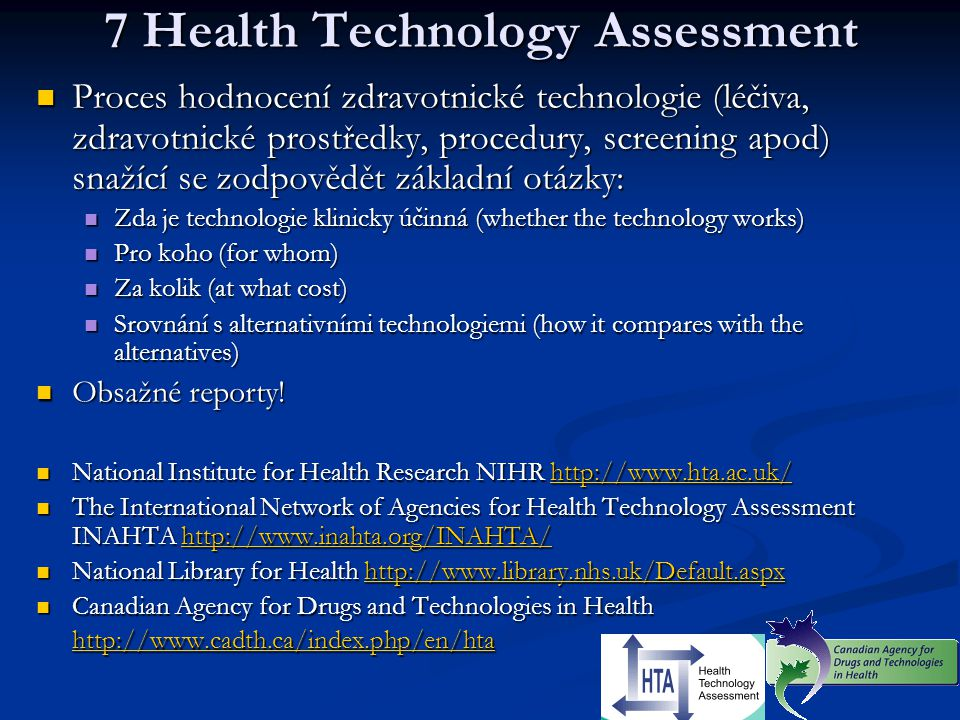 7 Health Technology Assessment