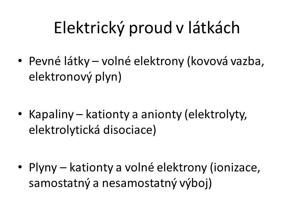 Elektrický proud v látkách