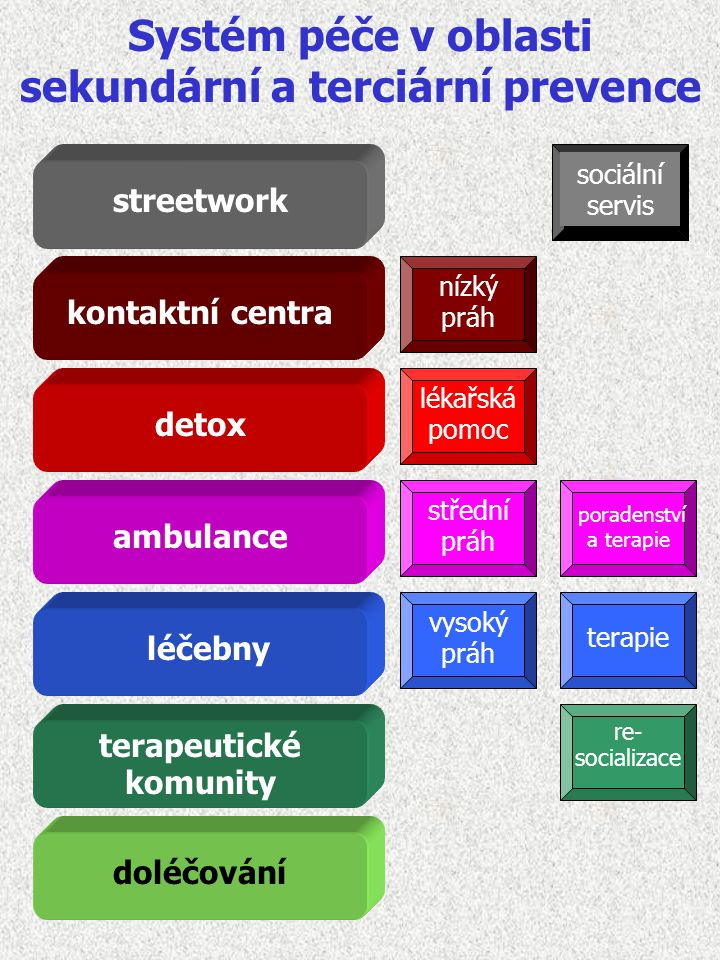 Systém péče v oblasti sekundární a terciární prevence