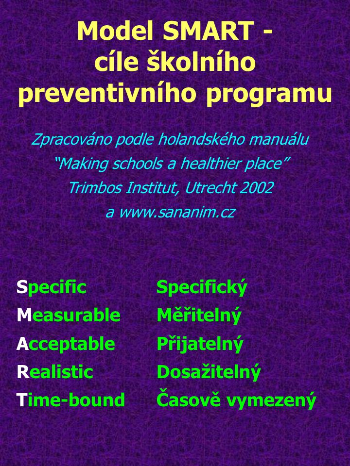 cíle školního preventivního programu