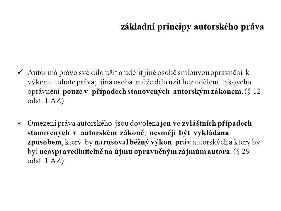 základní principy autorského práva